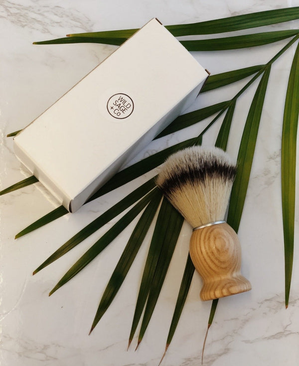 Vegan Shaving Brush, Wild Sage + Co, The Clean Market