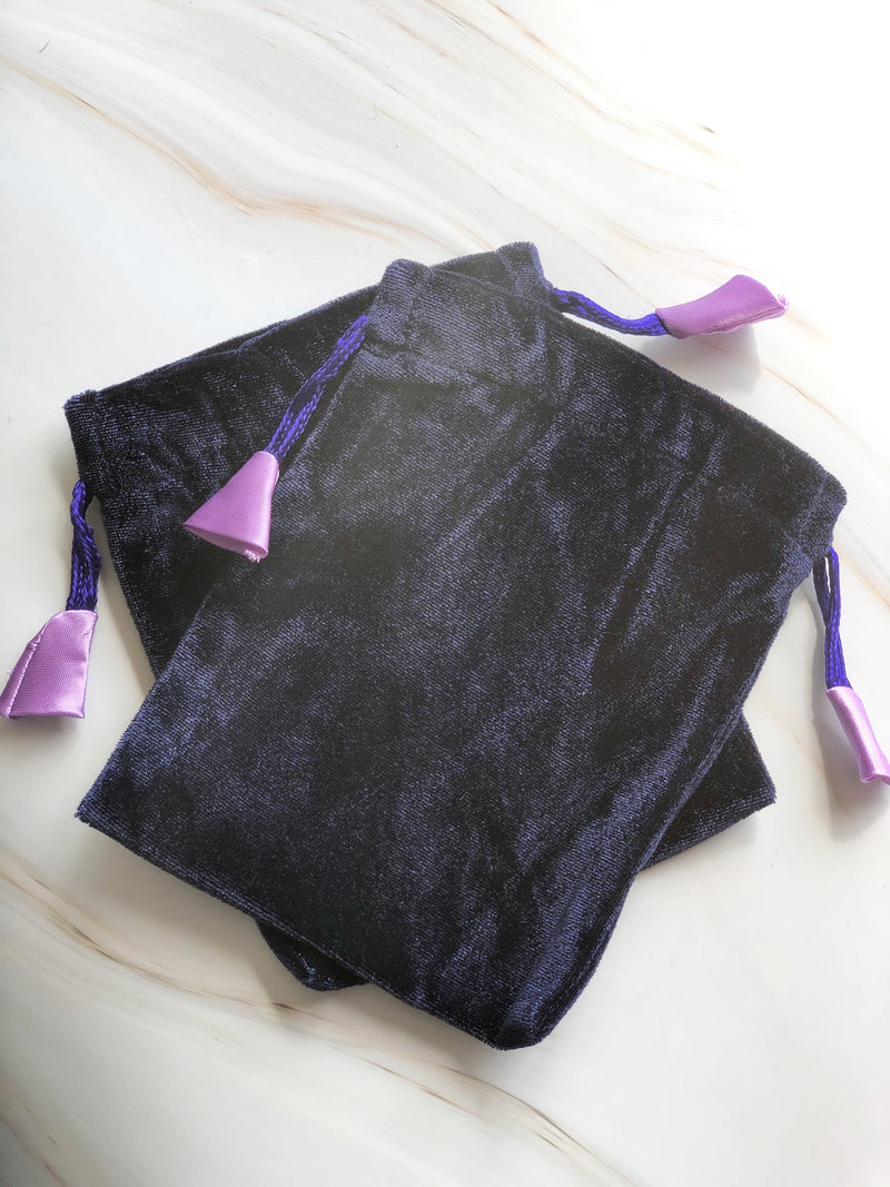 Velvet Crystal Bag with Satin, Holistic Trader, The Clean Market