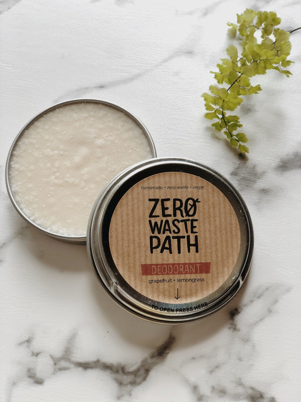 Natural Deodorant - Grapefruit & Lemongrass, Zero Waste Path, The Clean Market