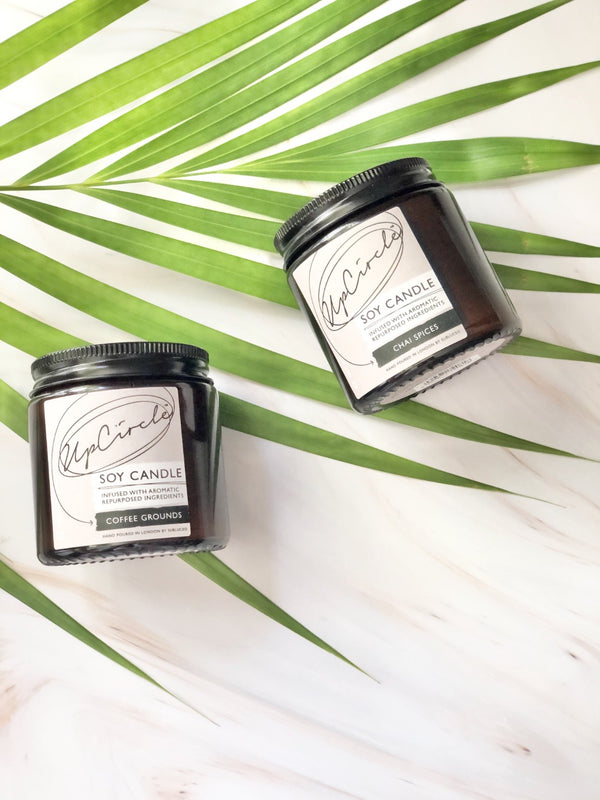 Soy Candle - Coffee Grounds, Upcircle, The Clean Market