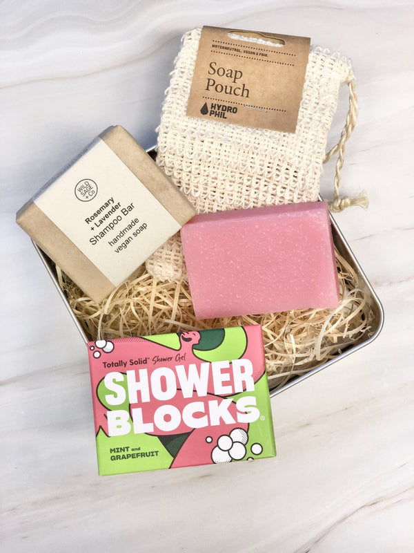 Plastic Free Shower Kit, The Clean Market, The Clean Market