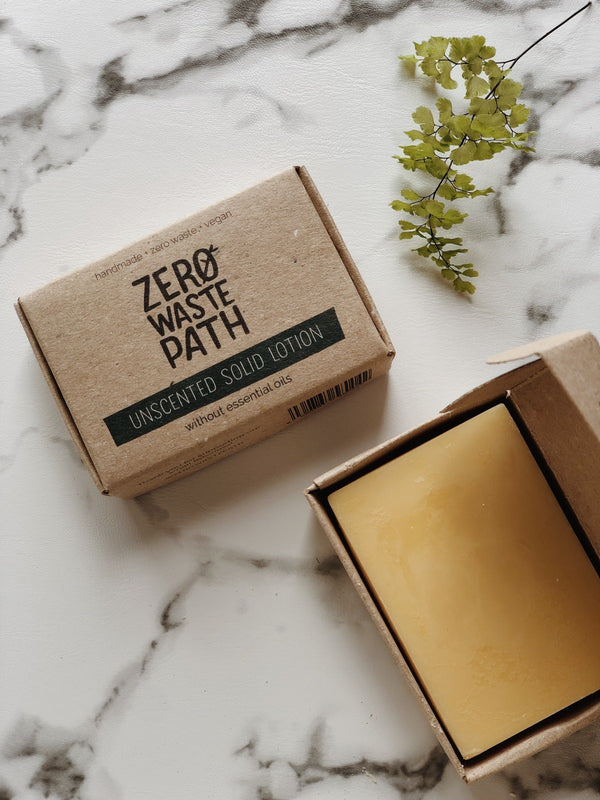 Solid Lotion - Unscented, Zero Waste Path, The Clean Market