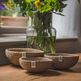 Mini Jute Bowls - Set of 3, Bowl, Green Pioneer, - The Clean Market
