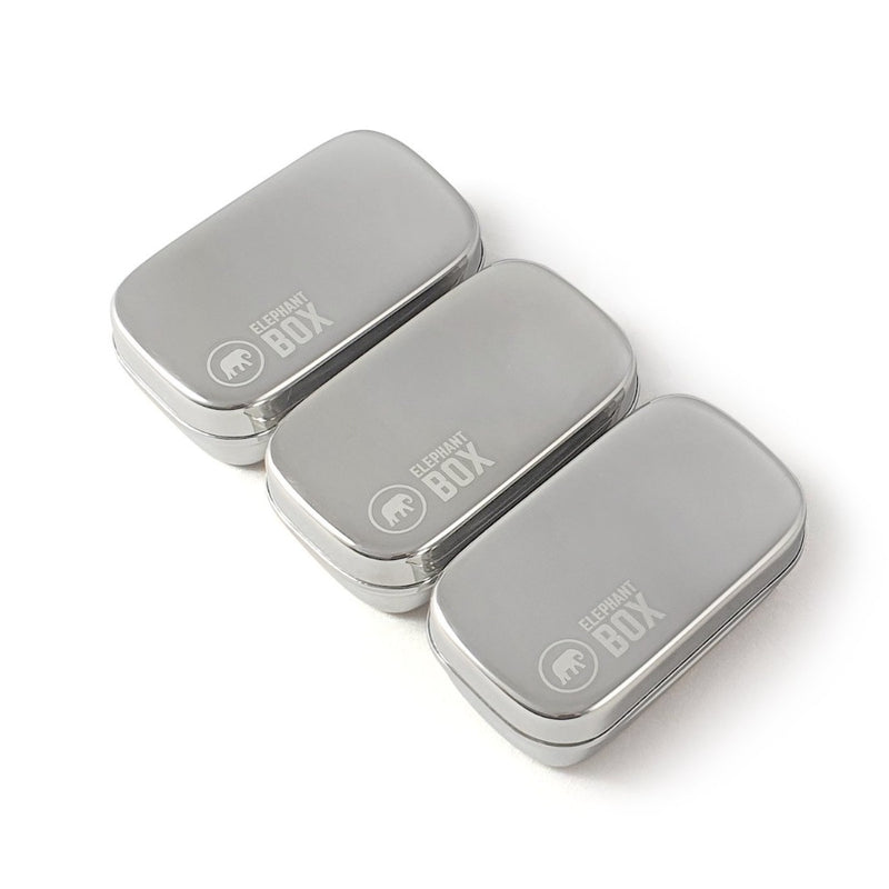 Stainless steel Mini Snack Pod Trio, Elephant Box, The Clean Market