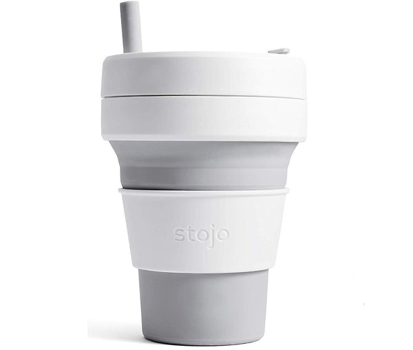 Stojo Collapsible Coffee Cup - Dove 16oz (470ml)