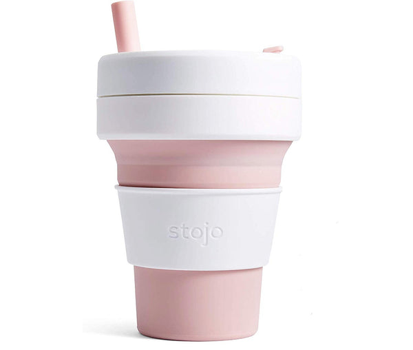 Stojo Collapsible Coffee Cup - Rose 16oz (470ml), Auteur, The Clean Market