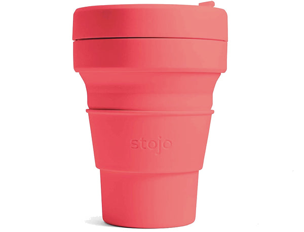 Stojo Collapsible Coffee Cup - Coral 12oz (355ml)