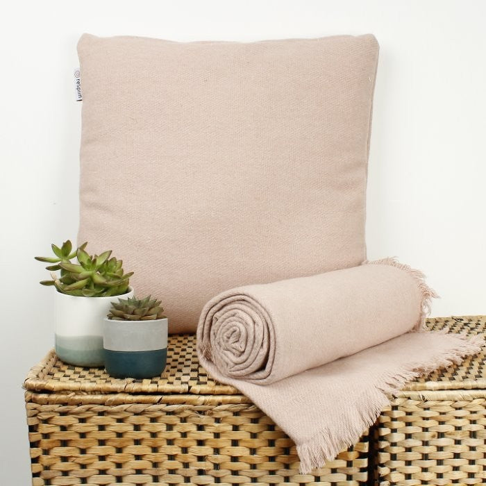 Recycled Wool Blanket - Dusty Pink, blanket, Green Pioneer, - The Clean Market