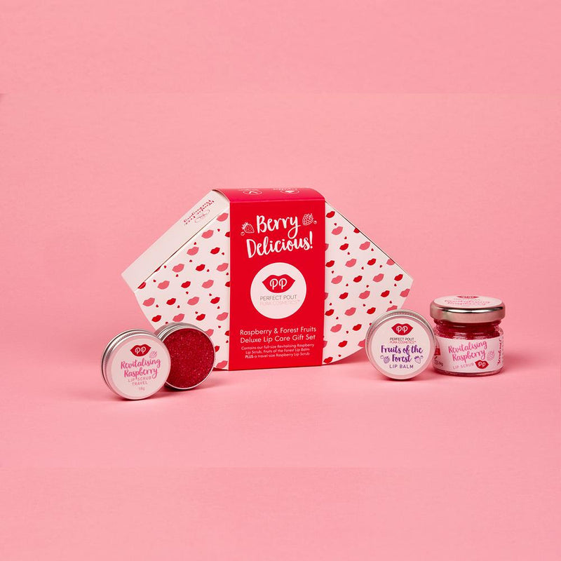 Lip Scrub & Balm Gift Set - Raspberry & Forest Fruits, gift set, Pura Cosmetics, - The Clean Market