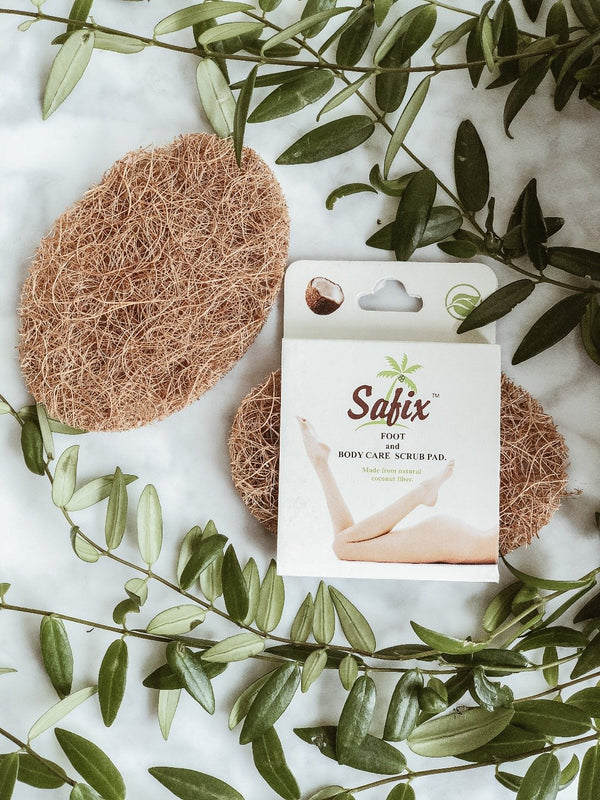 100% biodegradable and zero waste natural body scrub pad made from coconut fibre