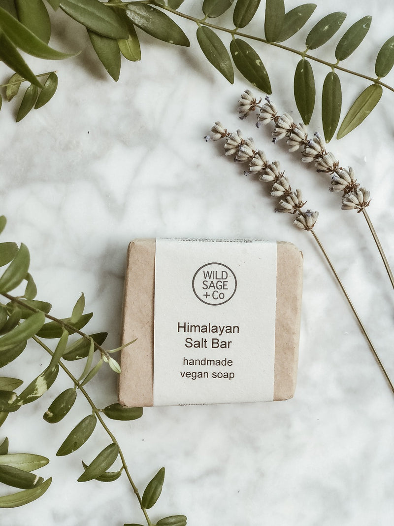 Handmade Natural Soap - Pink Himalayan Salt, Wild Sage + Co, The Clean Market