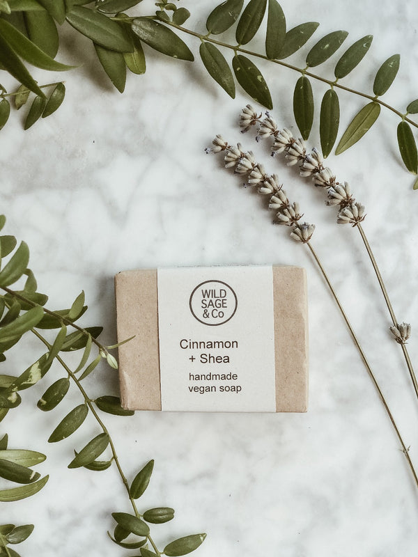 Handmade Natural Soap - Cinnamon & Shea, Soap, Wild Sage + Co, - The Clean Market