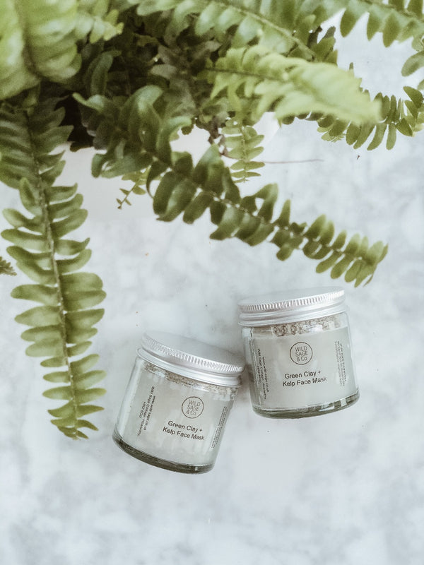 Face Mask - Green Clay, Face Care, Wild Sage + Co, - The Clean Market