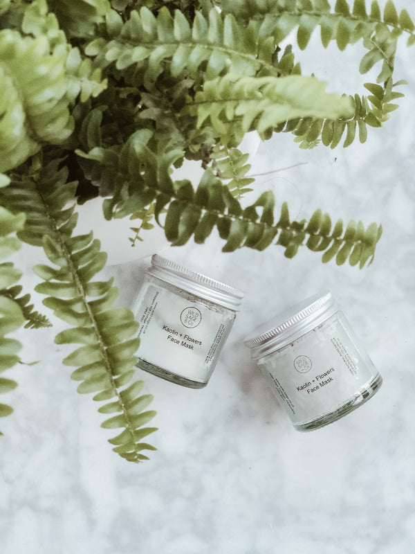 Face Mask - Kaolin + Flowers, Face Care, Wild Sage + Co, - The Clean Market
