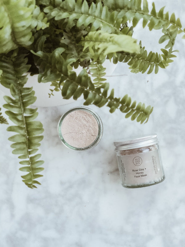 Face Mask - Rose Clay & Honey, Wild Sage + Co, The Clean Market
