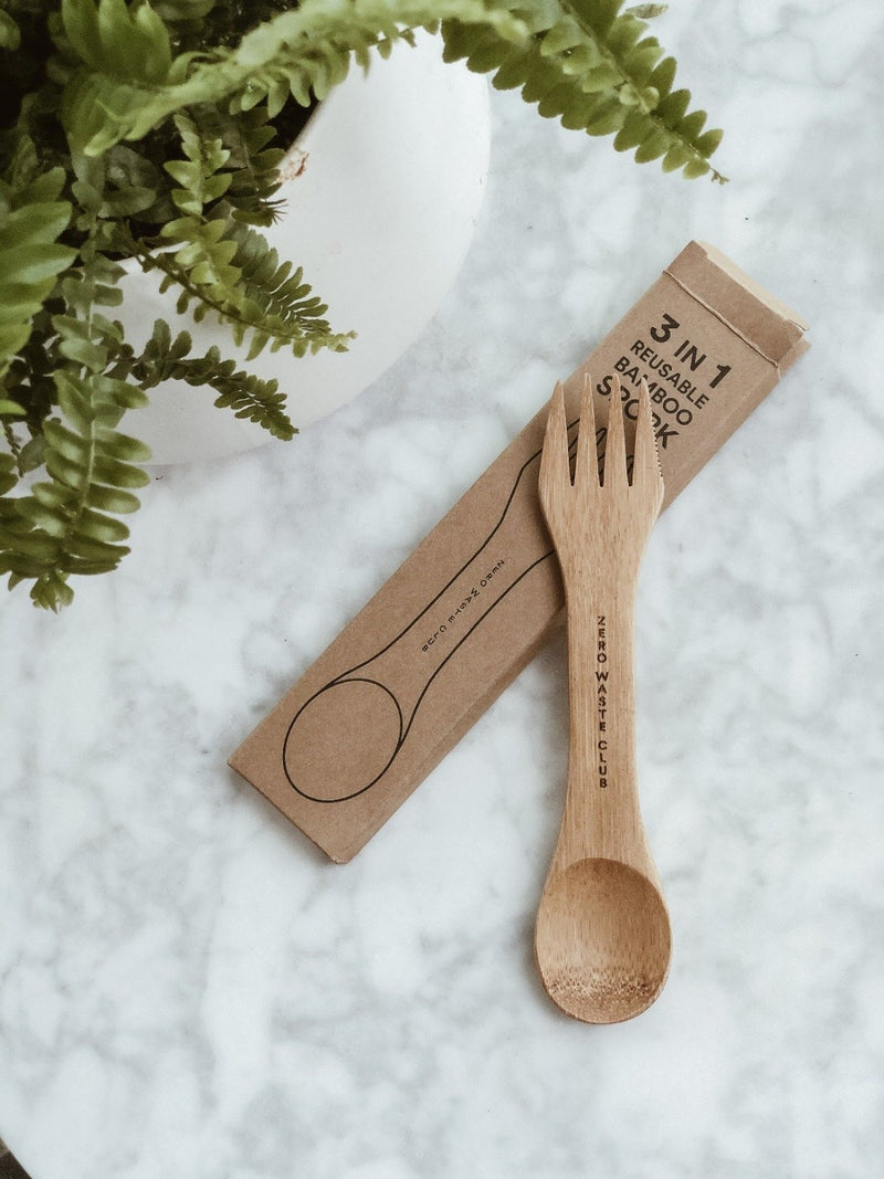 3 in 1 Bamboo Spork, Zero Waste Club, The Clean Market