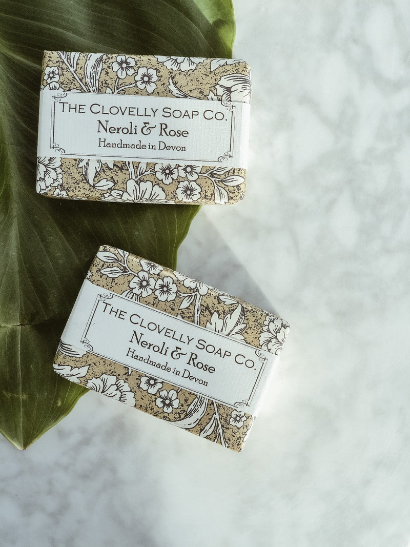 Handmade Natural Soap - Neroli & Rose, The Clovelly Soap Company, The Clean Market