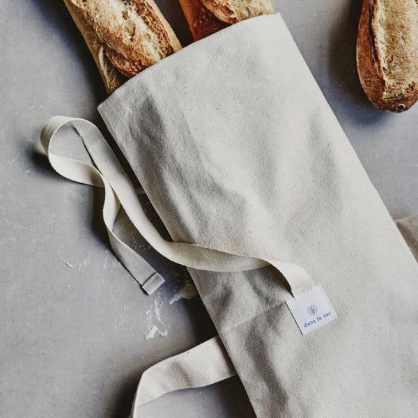 Cotton Baguette Bag, Green Pioneer, The Clean Market