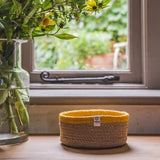 Shallow Jute Basket - Natural & Yellow, Green Pioneer, The Clean Market