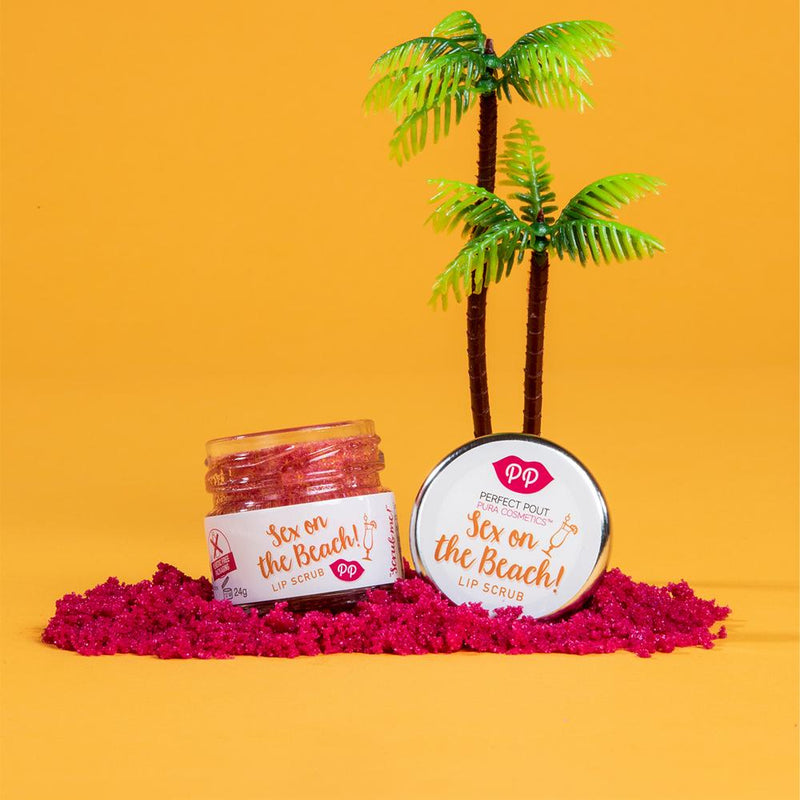 Lip Scrub - Sex on the Beach, Pura Cosmetics, The Clean Market