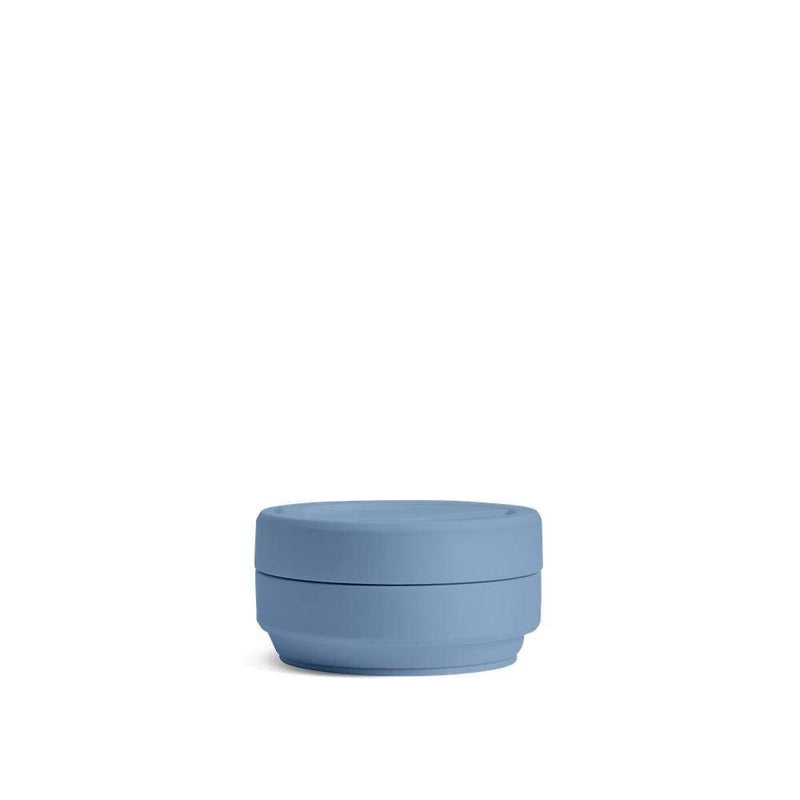 Stojo Collapsible Coffee Cup - Steel Blue 12oz (355ml), Auteur, The Clean Market