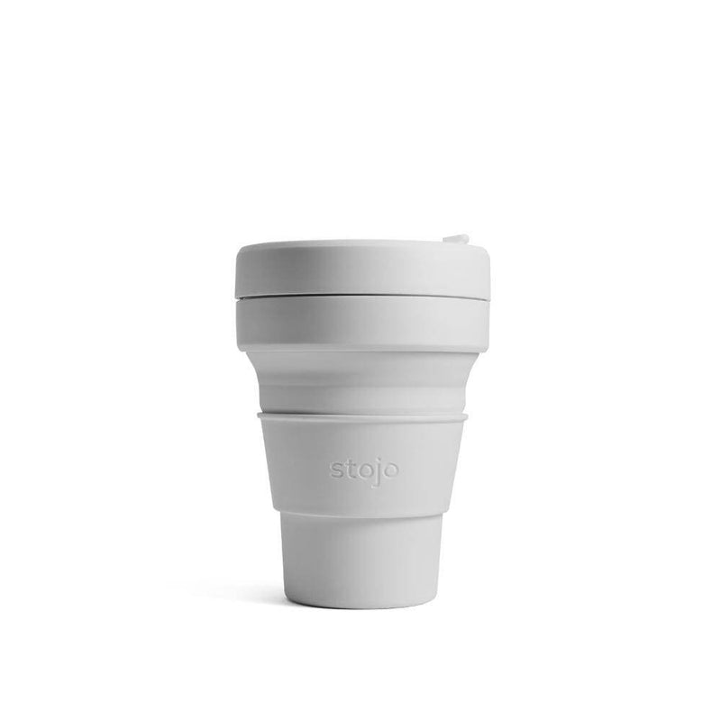 reusable and collapsible coffee cup by stojo in cashmere colour