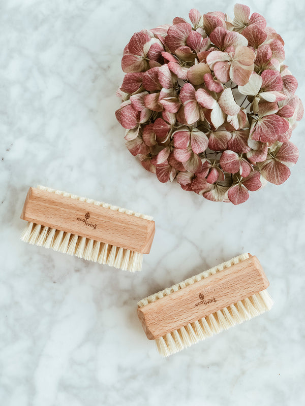 Plastic Free Natural Nailbrush, nail brush, Ecoliving, - The Clean Market