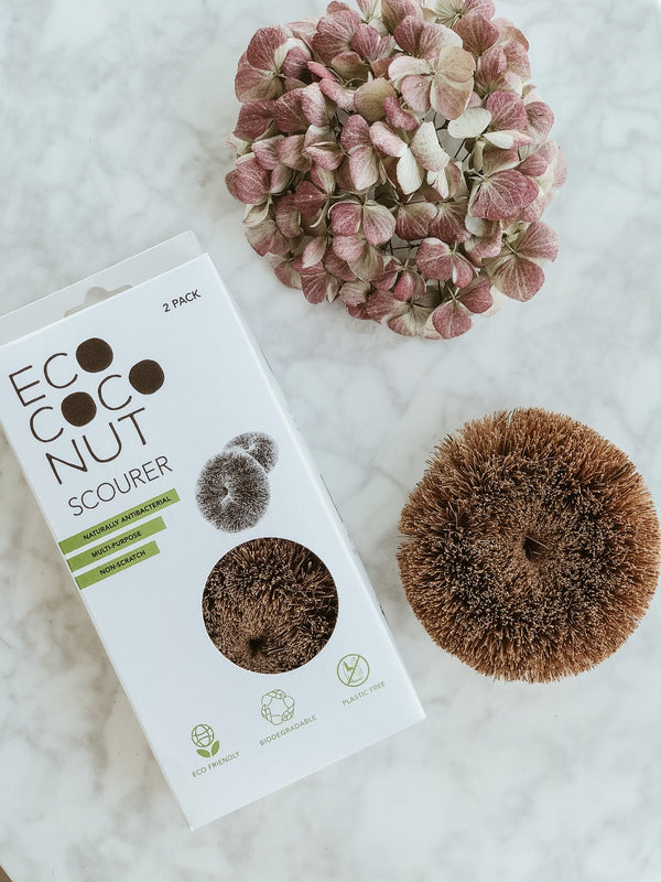 Coconut Scourers - Pack of 2, Scrub Pad, Ecoliving, - The Clean Market