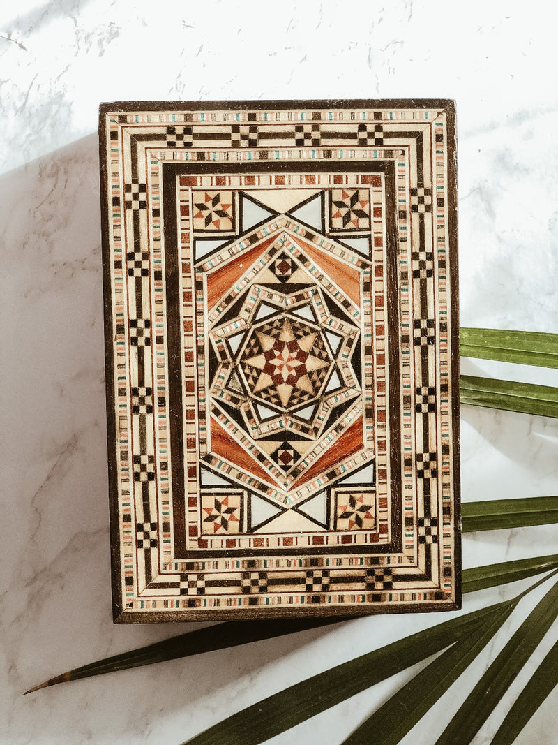 Handmade Wooden Mosaic Sun Box, The Clean Market, The Clean Market