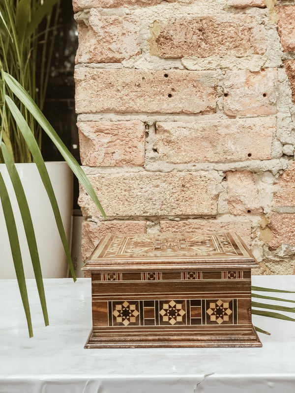 Handmade Wooden Mosaic Beauty Box, The Clean Market, The Clean Market