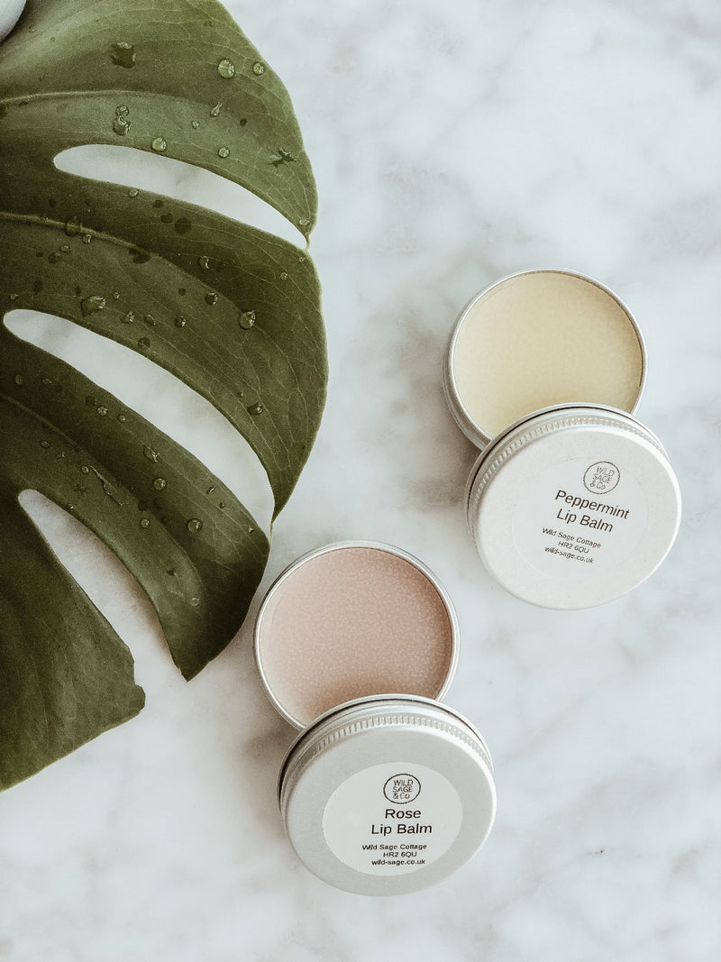 Lip Balm - Rose, Lip Butter, Wild Sage + Co, - The Clean Market