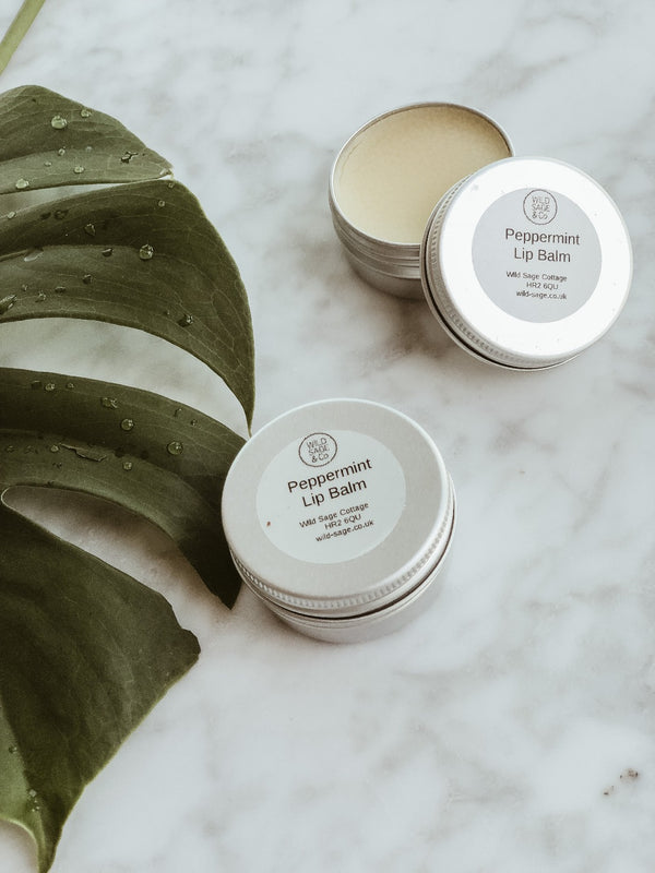 Lip Balm - Peppermint, Lip Butter, Wild Sage + Co, - The Clean Market