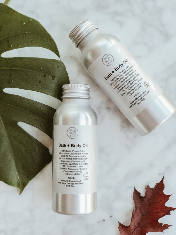 Bath & Body Oil, Wild Sage + Co, The Clean Market