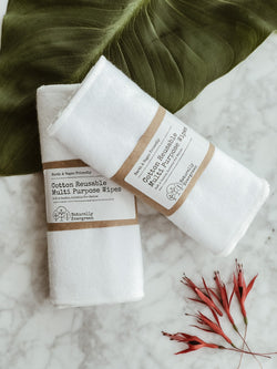 Cotton Reusable Multi Purpose Wipes - Pack of 6
