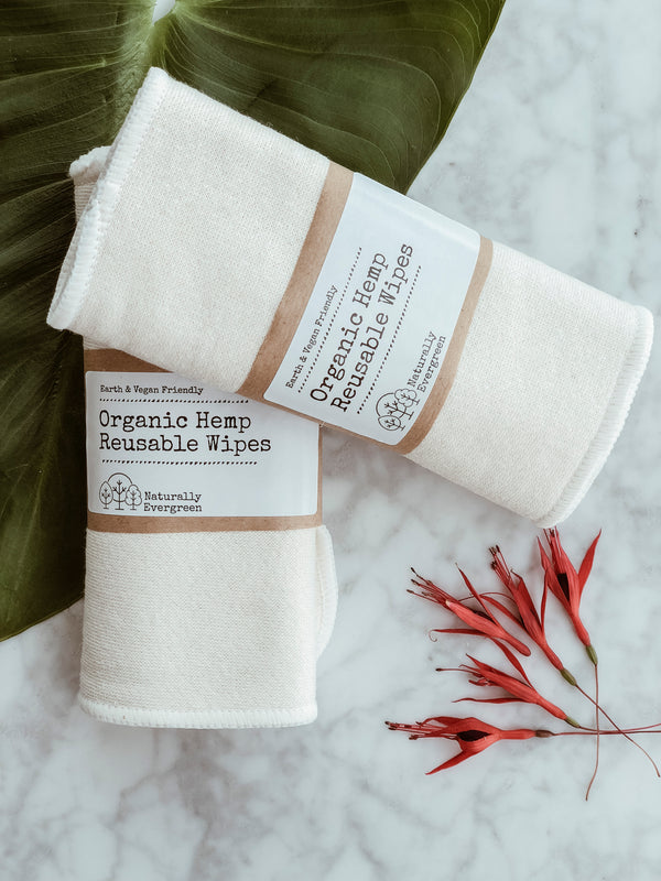 Organic Hemp Reusable Wipes - Pack of 3
