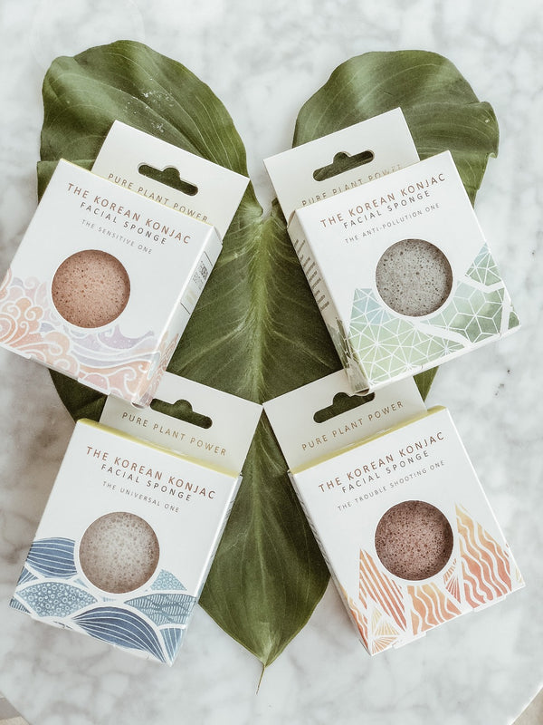 Konjac Sponge Pack - The Elements Collection, Pack, The Clean Market , - The Clean Market