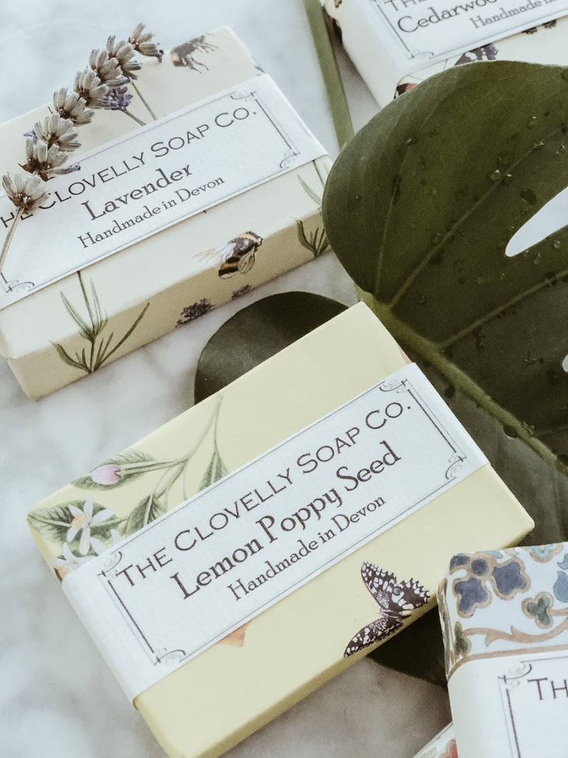 Handmade Natural Soap - Lemon & Poppy Seeds, The Clovelly Soap Company, The Clean Market