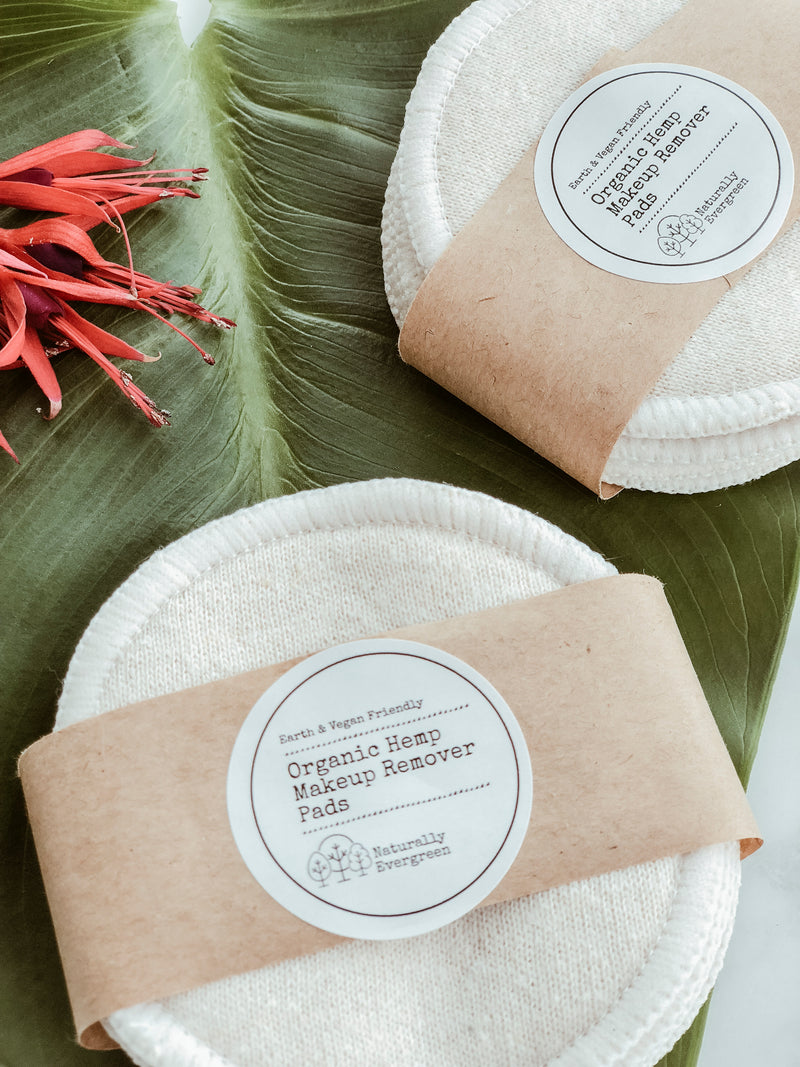 Organic Hemp Makeup Remover Pads - Pack of 7