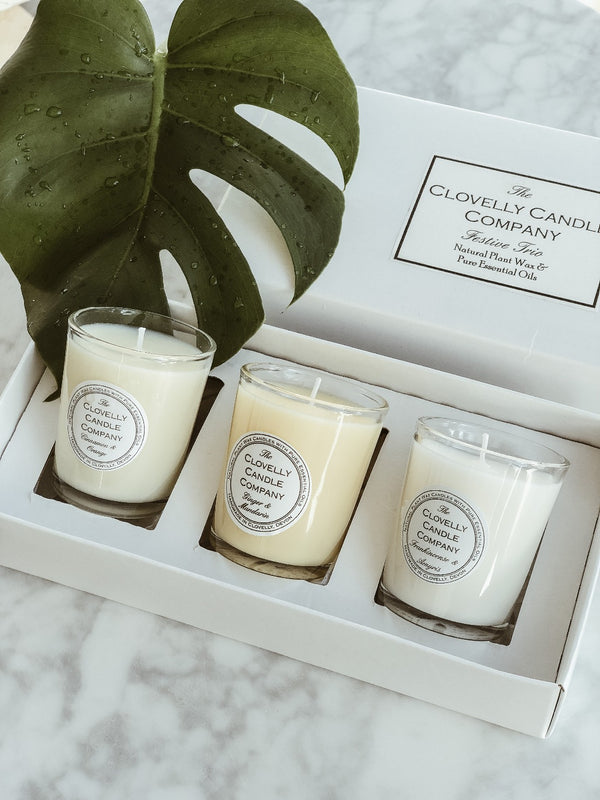 Candle Trio Gift Set - Festive, The Clovelly Soap Company, The Clean Market