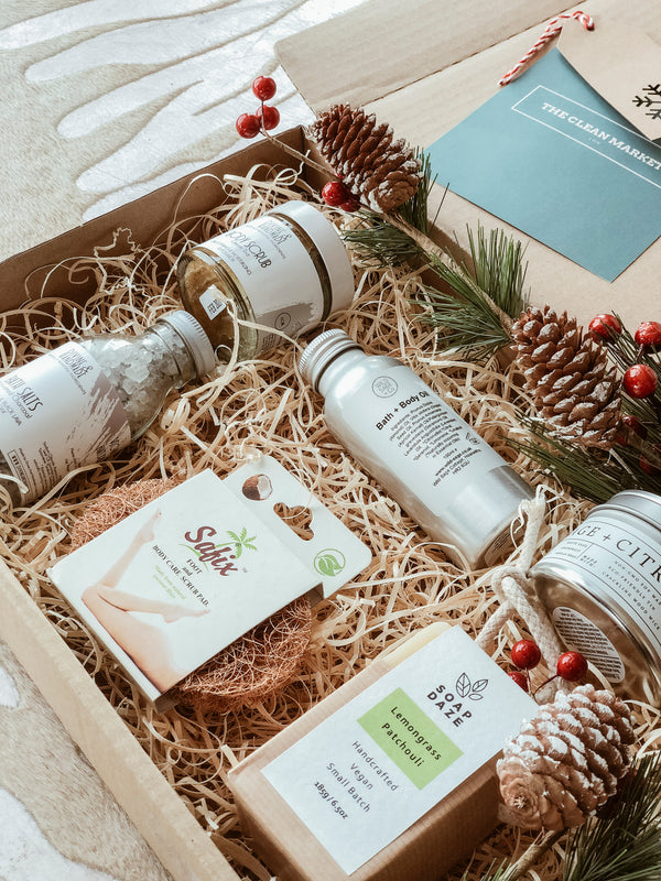 Natural Spa Gift Set, Pack, The Clean Market, - The Clean Market