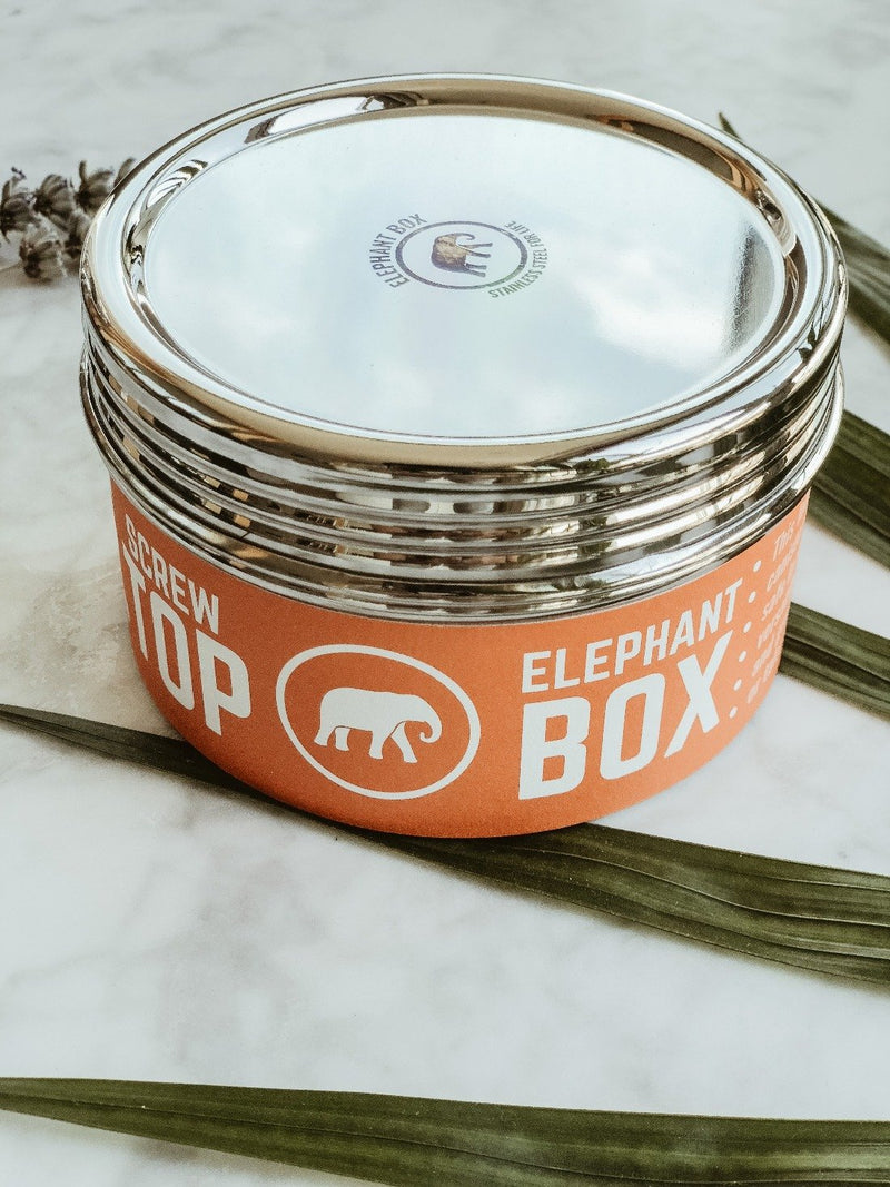 Large Screw Top Canister - Elephant Box, Lunchbox, Elephant Box, - The Clean Market