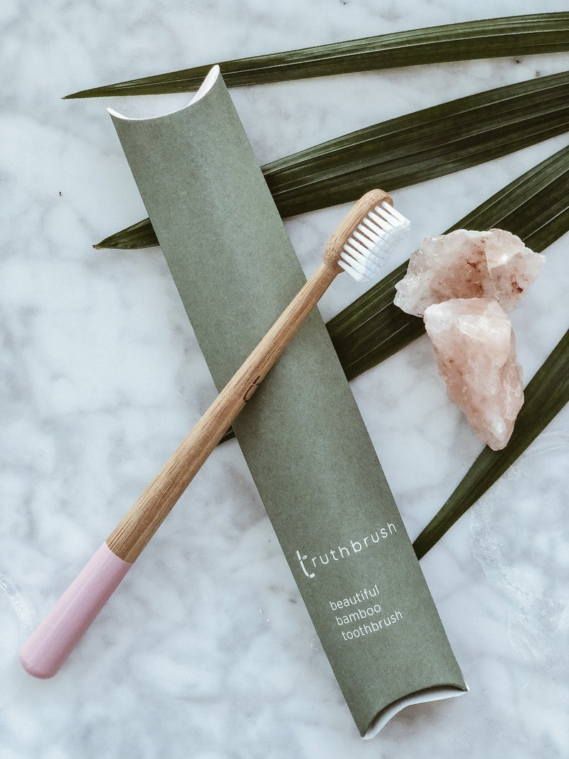 Bamboo Toothbrush - Medium - Pink - The Clean Market