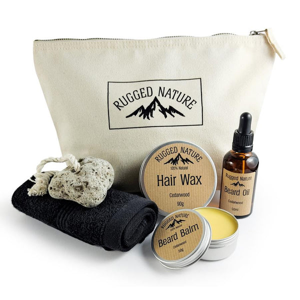 Natural Beard Care Set, Rugged Nature, The Clean Market