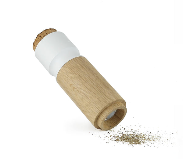 Pinch and grind salt and pepper dispenser