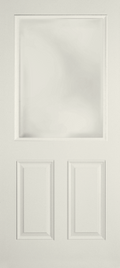 STOCK 1/2 Lite 2-Panel Fiberglass Exterior Door
