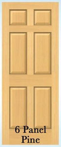 Jeld-Wen 6-Panel Radiata Pine Prehung Door
