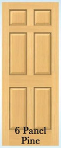 Jeld-Wen 6-Panel Radiata Pine Slab Door