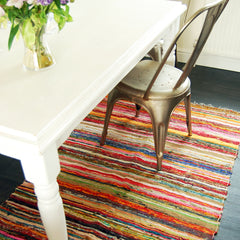 Natural Coloured Hand Woven Rug