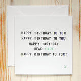 Personalised Happy Birthday Card