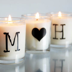 Couples scented candles